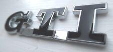 BLACK GTI  Rear Car Emblem for VW Polo GOLF MK GTI  Boot Car Badge