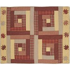 """Country Rustic Primitive BRADDOCK Quilted Cotton Throw 50"""" x 60"""""""