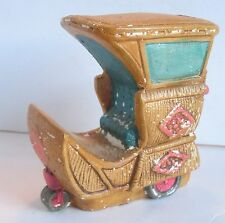 Vintage Atlantic City NJ Boardwalk Rolling Cart Chair Coin Bank Made in Japan 3