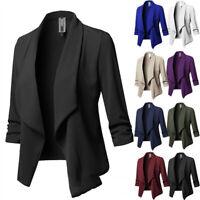 Women Slim Casual Blazer Jacket Top Outwear Long Sleeve Suit Formal Short Coat