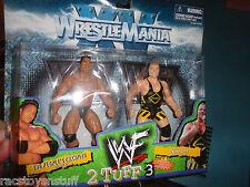 WWE WRESTLEMANIA 15 SERIES THE ROCK VERSUS OWEN HART MOC, FREE U.S. SHIPPING