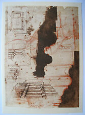 "MICHELANGELO 1970 Lithograph ""ARCHITECTURAL PROJECTS"""