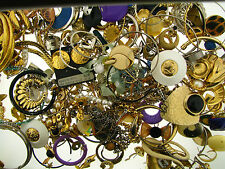 Big Vintage Destash Collection Vintage Jewelry Mixed Parts Findings Repair AS IS