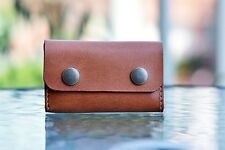 Leather Business Card Holder Handmade Genuine Leather Classic Vintage Gift Brown
