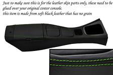 green stitch FITS MAZDA MX5 MK2 MIATA 01-05 CENTRE CONSOLE & ARMREST LTHR COVERS