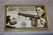 Colt Automatic Pistol-chapa escudo 20x30 cm collage pistola arma armas Sign
