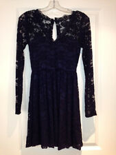 Foreign Exchange Asos Dress Navy Blue Lace Small S