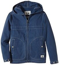 BNWT QUIKSILVER WARWICH YOUTH BOYS BLUE HOODED PARKA SPRING JACKET L 14 YEARS