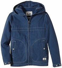 BNWT QUIKSILVER WARWICH YOUTH BOYS BLUE HOODED PARKA SPRING JACKET M 12 YEARS