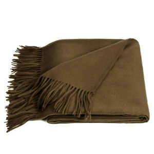 """50x70"""" Mongolian Wool Cashmere Blend Throw Blanket. Natural, Warm, Soft and Cozy"""