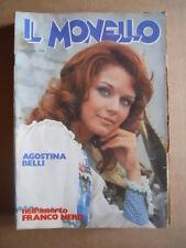 IL MONELLO n°52 1973 Agostina Belli Inserto Franco Nero Cristall [G429]