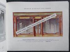 Rare Catalogue MENUISERIE D'ART ET DE BATIMENT E. Gillet ART NOUVEAU Devantures