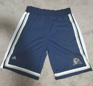 Game Worn Used Adidas Pittsburgh Panthers Pitt Basketball Shorts Size 44 + 2