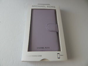 Michael Kors Saffiano Leather Folio Case with 3 Card Slots for iPhone X XS New