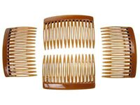 7cm Tort Brown Side Hair Combs Slides Clips Hair Accessories