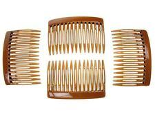 7cm Tort Brown Plain Side Hair Combs Slides Grips Hair Accessories UK