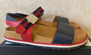 Authentic Kids GUCCI Navy & Red Signature Stripe Sliders Size UK 2.5