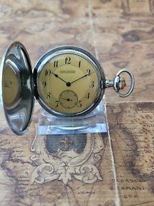 alte 800 Tula-Silber Alpina Union Horlogere Taschenuhr mit frischer Revision