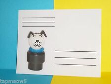 Fisher Price Little People NEW Dog w/Blue Collar  POST CARDS  x8