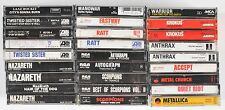 Heavy Metal Bands Cassettes Lot of 27 1970s 1980s Thrash Scorpions Anthrax