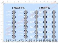 1/72 I-153 & I-16 Fighter KMT Emblem Model Kit Water Decal