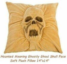 "Morbid Halloween Haunted ghoul Face Soft Plush Throw Pillow Skull Decoration 14"""