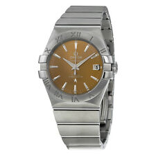 Omega Constellation Co-Axial Bronze Dial 35 mm Stainless Steel Mens Watch