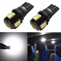 JDM ASTAR 2x T10 White 5630 SMD 194 168 W5W 12V LED Car Inteiror Map Light Bulbs