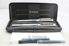 More details for vintage (1994) parker 25 medium fountain & ballpoint pen set, cased