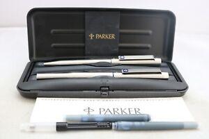Vintage (1994) Parker 25 Medium Fountain & Ballpoint Pen Set, Cased