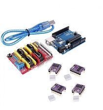 US Ship Arduino CNC kit UNO R3 + Shield + 4 x DRV8825 Drivers