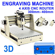 4 Achse CNC 3040 Router Fräsmaschine 400W Fräse Graviergerät 3D Engraver