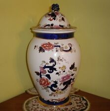 Masons Blue Mandalay Hall Vase With Lid - Very Large
