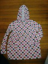 Gap Kids Vintage Hooded Long Sleeve Pocket Tunic Pink & Brown Hearts Xxl