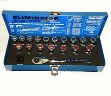 Armstrong #16-090 Eliminator MET/SAE Ratcheting Socket Set - Go Thru Style