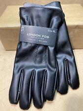 London Fog Collection Fleece Lined Men's Touchscreen Glove Black Size XL New B75