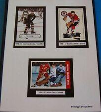 1956-57 Parkhurst Promo Card Hockey Sheet Gordie Howe