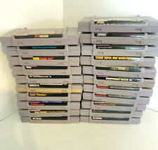 Super Nintendo SNES Game Lot 21 Games AUTHENTIC TESTED NCAA WWF Mario Pac-Man