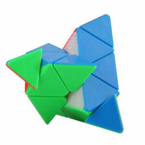 Glattes Dreieck Classic Speed Cube  Pyramid Puzzle Twist Lernspielzeug ★