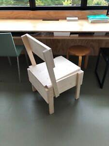Authentic chair Sedia 1 by Enzo Mari natural pine wood