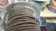 per foot-18 ga LAMP ac cord,BROWN 3-wire, CLOTH covered