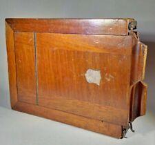 JL & S Opticians (Lancaster & Son) Hand-Inscribed Mahogany Quarter Plate Holder