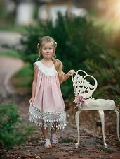 NWT Dollcake Pink Lace Loveliness Dress Size 12 Summer Beach Boho Dress