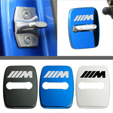 4X Stainless Steel Car Door Lock Buckle Protective Cover Sticker For BMW M Sport