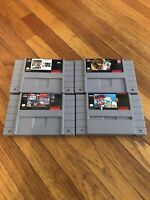 Lot of 4 Super Nintendo SNES Video Games - Free Shipping USPS Priority Mail!!!