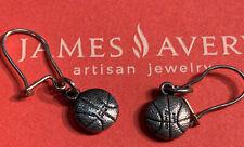 ❤ JAMES AVERY Basketball Earrings Rare Retired 925SS GIFT BOX TOO!