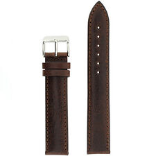 Watch Band Genuine Leather Calfskin 19 mmm 21mm Regular Extra Long Brown Black