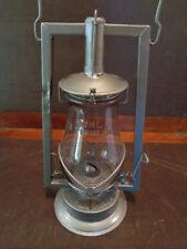 Antique Steel TUBULAR BUHL No 0 Barn Lantern BUHL MARKED TINTED GLOBE