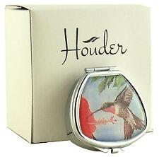 Pill Box Decorative Case Travel Vitamin Med Mint Holder Hummingbird Floral Metal