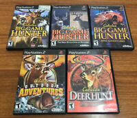 Cabela's Outdoors Ps2 Lot Dangerous Hunt Big Game Hunter Outdoors TESTED